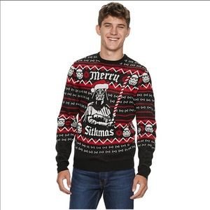 Star Wars Merry Sithmas Ugly Christmas Sweater M